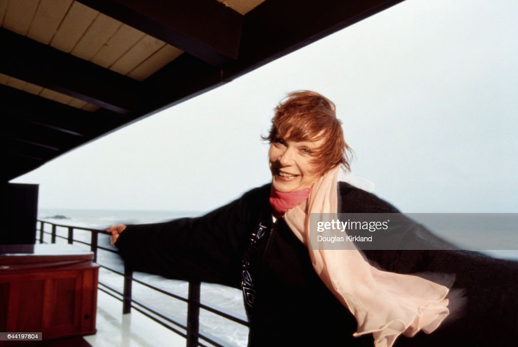 Shirley MacLaine on Deck of Oceanfront Home