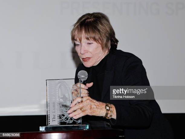 Shirley MacLaine receives the Lumiere Award at The KCET Cinema Series Lumiere Award Ceremony and 'The Last Word' screening at ArcLight Sherman Oaks...