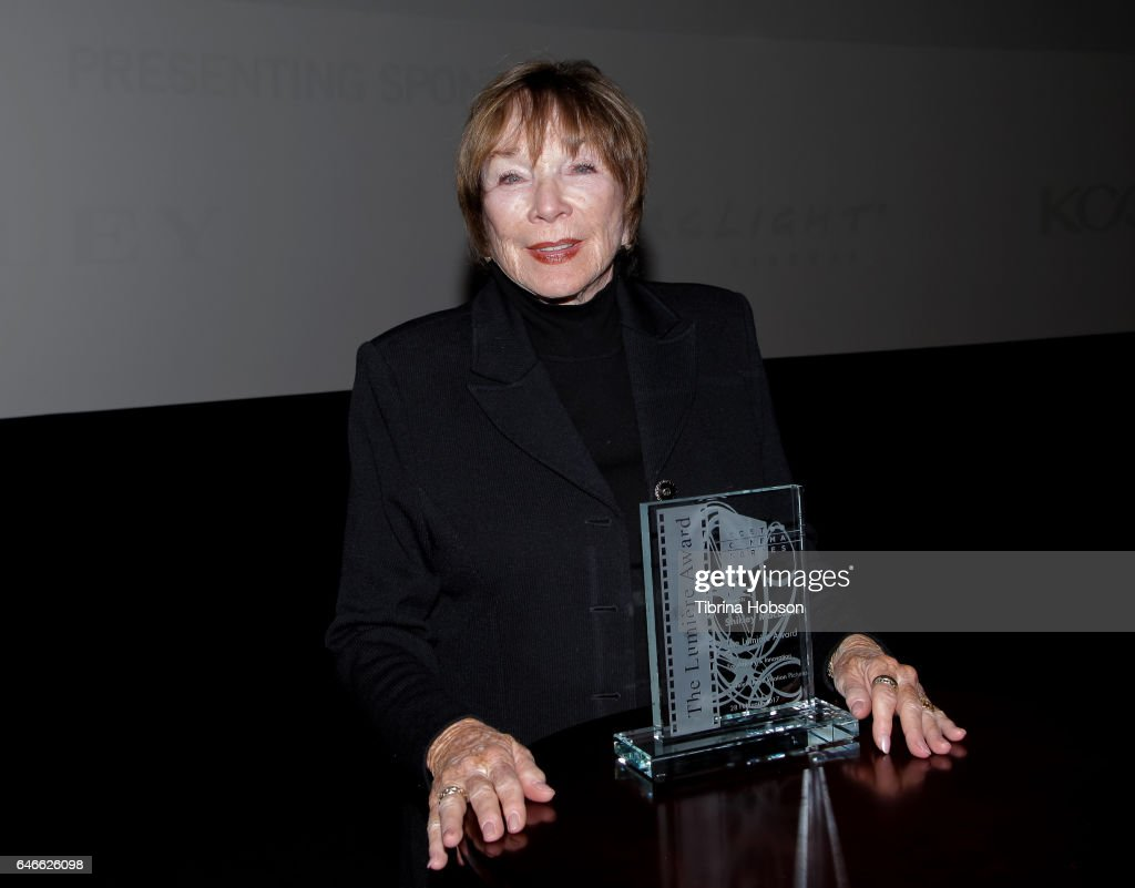 Shirley MacLaine receives the Lumiere Award at The KCET Cinema Series Lumiere Award Ceremony and 'The Last Word' screening at ArcLight Sherman Oaks on February 28, 2017 in Sherman Oaks, California.