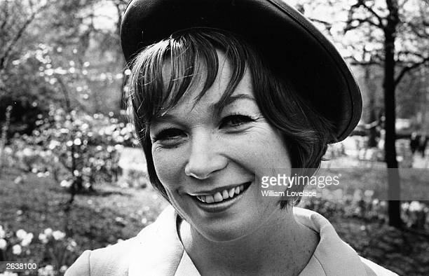 Shirley MacLaine the Hollywood film star dancer and actress in the Savoy Gardens London