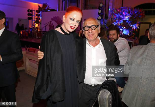 Shirley Manson and Michael Nyman attend the Liberatum Mexico Festival 2018 Opening Night dinner at Museo de Arte Popular on March 16 2018 in Mexico...
