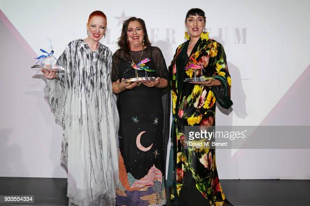 Shirley Manson Angela Missoni and Rossy de Palma attend the Liberatum Mexico Festival 2018 Gala Dinner and Liberatum Cultural Honour Awards at the...