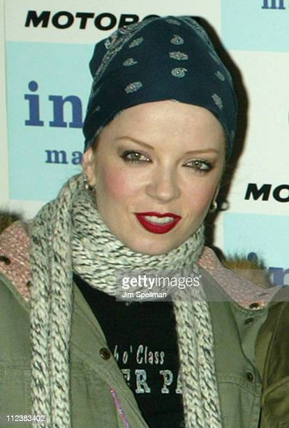 Shirley Manson during Motorola Presents an Evening with Index Magazine at The Public Theater in New York City New York United States