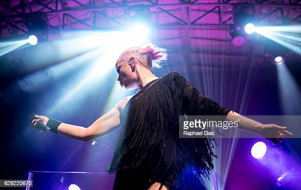Shirley Manson from Garbage performs at Circo Voador on December 11 2016 in Rio de Janeiro Brazil