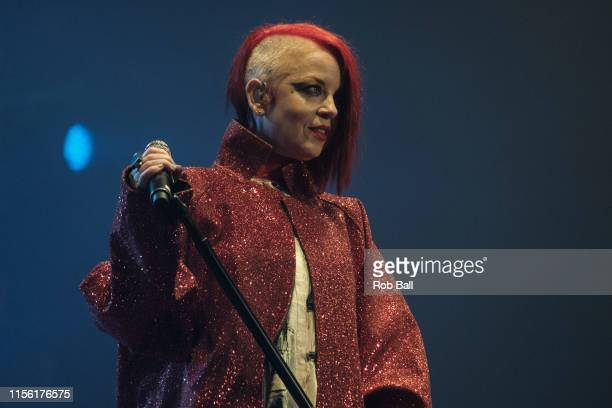 Shirley Manson from Garbage performs onstage during Isle of Wight Festival 2019 at Seaclose Park on June 15 2019 in Newport Isle of Wight