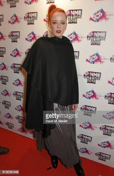 Shirley Manson of Garbage attends the VO5 NME Awards held at Brixton Academy on February 14 2018 in London England