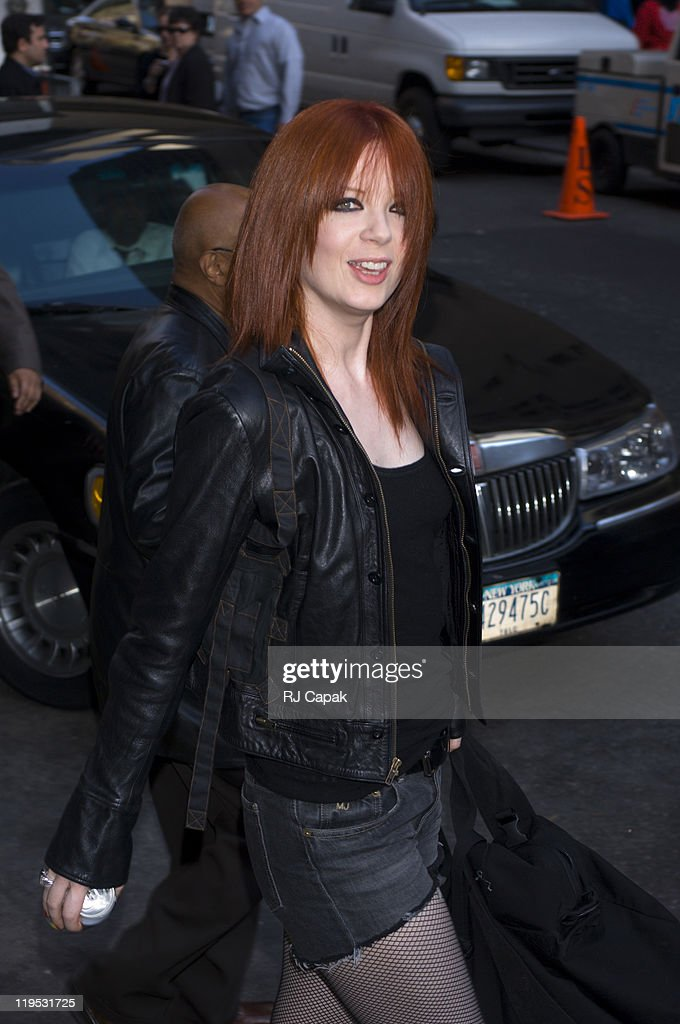 """Shirley Manson of Garbage Visits the """"Late Show with David Letterman"""" - May 12,"""