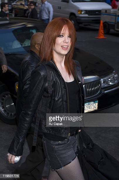 Shirley Manson of Garbage during Shirley Manson of Garbage Visits the Late Show with David Letterman May 12 2005 at Ed Sullivan Theatre in New York...