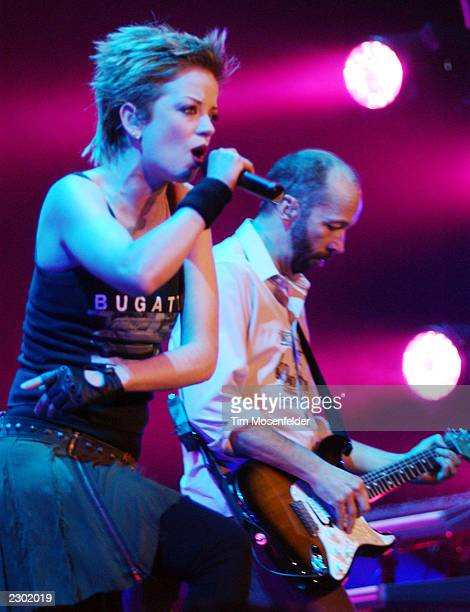 Shirley Manson of Garbage performing at Arco Arena in Sacramento CA on November 13th 2002 Image By Tim Mosenfelder/Getty Images
