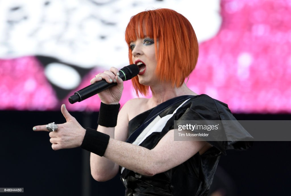 Shirley Manson of Garbage performs during KAABOO Del Mar at Del Mar Fairgrounds on September 16, 2017 in Del Mar, California.