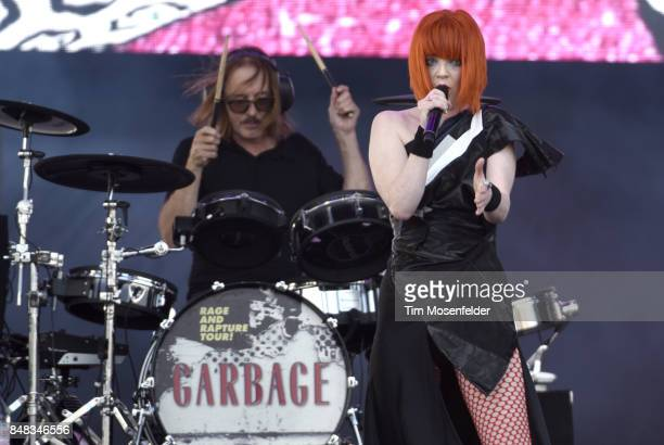 Shirley Manson of Garbage performs during KAABOO Del Mar at Del Mar Fairgrounds on September 16 2017 in Del Mar California