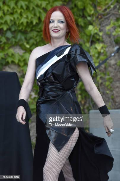 Shirley Manson of Garbage performs during the band's 'Rage and Rapture Tour' at The Mountain Winery on July 5 2017 in Saratoga California