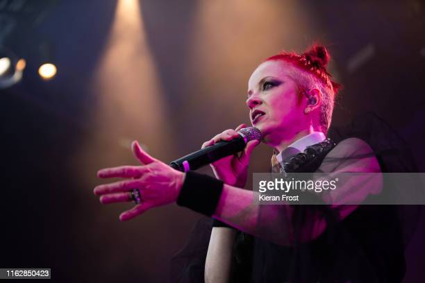 Shirley Manson of Garbage performs on stage at Iveagh Gardens on July 18 2019 in Dublin Ireland