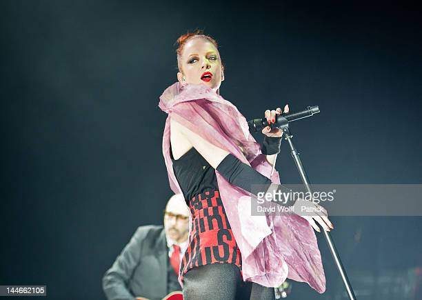 Shirley Manson of Garbage performs on stage at L'Olympia on May 16 2012 in Paris France