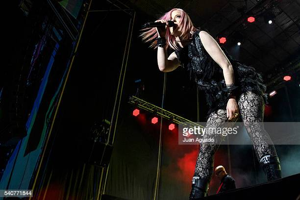 Shirley Manson of Garbage performs on stage at Mad Cool Festival on June 16 2016 in Madrid Spain