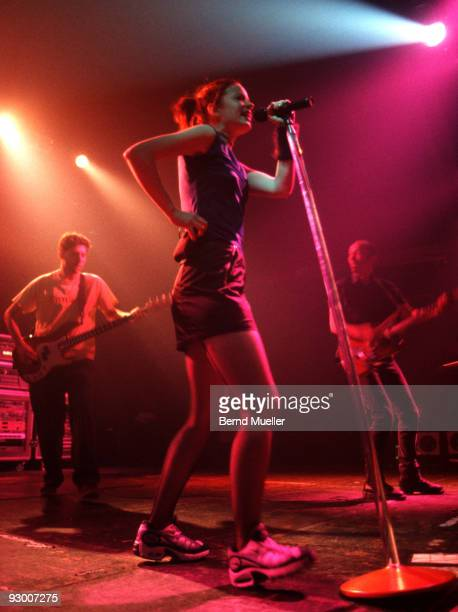 Shirley Manson of Garbage performs on stage at Roskilde Festival on June 26th 1998 in Denmark