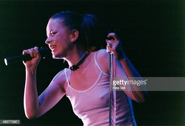 Shirley Manson of Garbage performs on stage at the National Exhibition Centre on January 17th 1999 in Birmingham England