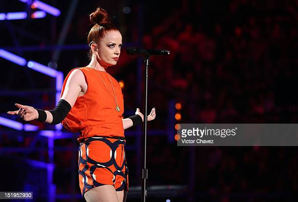 Shirley Manson of Garbage performs onstage at the MTV World Stage Monterrey Mexico 2012 at Arena Monterrey on September 12 2012 in Monterrey Mexico