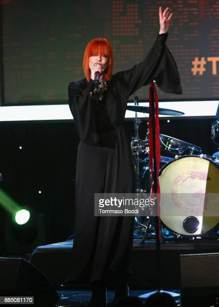 Shirley Manson of Garbage performs onstage during The Trevor Project's 2017 TrevorLIVE LA Gala at The Beverly Hilton Hotel on December 3 2017 in...