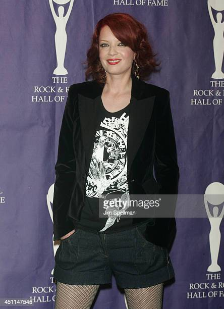 Shirley Manson of Garbage presenter during 21st Annual Rock and Roll Hall of Fame Induction Ceremony Press Room at Waldorf Astoria in New York City...