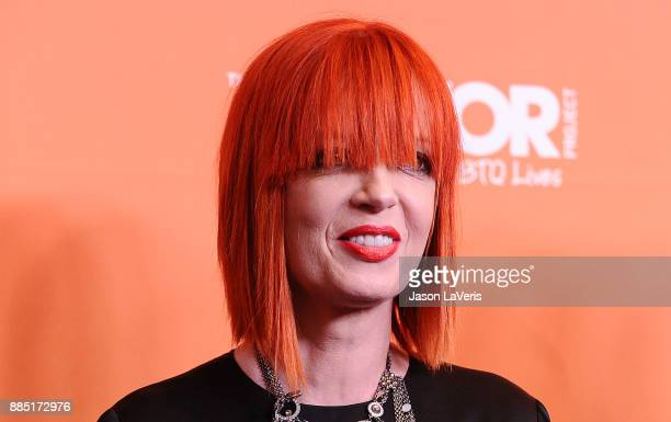 Shirley Manson of the band Garbage attends The Trevor Project's 2017 TrevorLIVE LA at The Beverly Hilton Hotel on December 3 2017 in Beverly Hills...