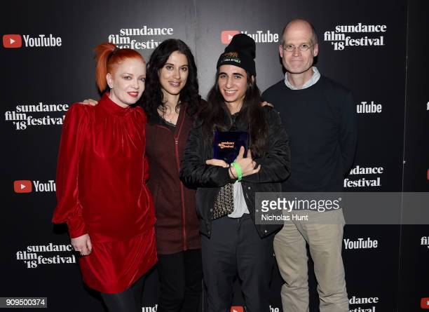 Shirley Manson Sharine Davis Luis De Filippis and Chris Ware attend the Shorts Program Awards and Party presented by YouTube during the 2018 Sundance...