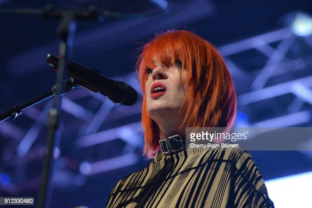 Shirley Manson speaks at 2018 NAMM She Rocks Awards held at The Anaheim House Of Blues on January 26 2018 in Anaheim CA