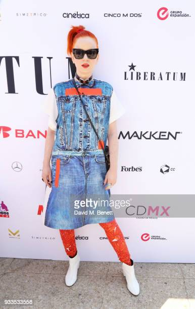Shirley Manson speaks onstage during day two of the Liberatum Mexico Festival 2018 at Monumento a la Revolucion on March 17 2018 in Mexico City Mexico