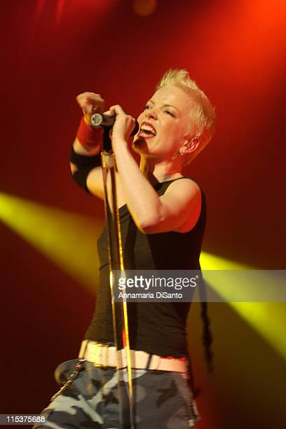 Shirley Manson vocals for Garbage during Garbage Live At The Wiltern at The Wiltern in Hollywood California United States