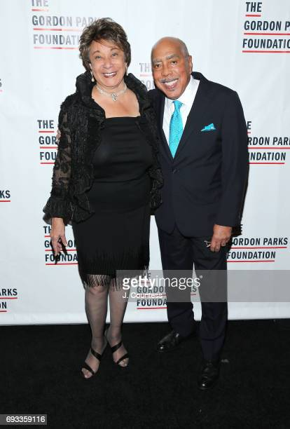 Shirley Massey and Walter Massey attend the 2017 Gordon Parks Foundation Awards Gala at Cipriani 42nd Street on June 6 2017 in New York City