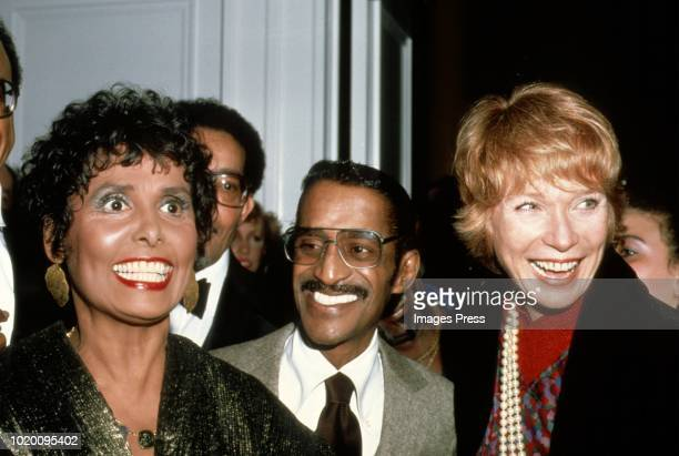 Shirley McClaine, Sammy Davis Jr and Lena Hornecirca 1981 in New York.