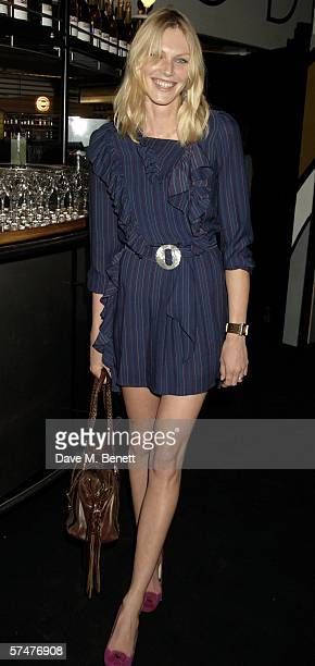 Shirley Millman attends the JovovichHawk VIP fashion launch party at the Fifth Floor Bar Harvey Nichols on April 27 2006 in London England The event...