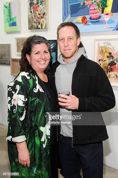 Shirley Morales and Phil Wanger attend The Rema Hort Mann Foundation LA Artist Initiative Benefit Auction on November 21 2013 in Los Angeles...