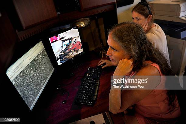 Shirley PhelpsRoper of the Westboro Baptist Church with her sister Rachel Hockenbarger often checks aerial photos and maps so as to determine where...