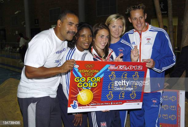 Shirley Robertson and Emily Pidgeon and Daley Thompson and Danny Crates and Denise Lewis