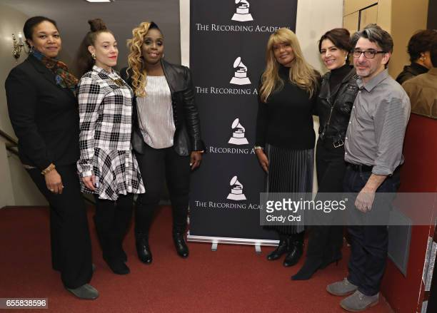 Shirley Taylor Kendra Foster Andrea Martin Tracey J Jordan Emily King and Nick Cucci attend the GRAMMY Pro Songwriters Summit Women Making Music at...
