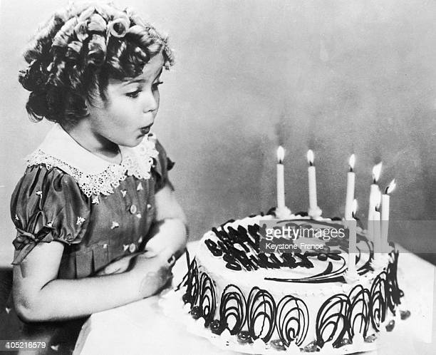 Shirley Temple And Her Birthday Cake In 1935