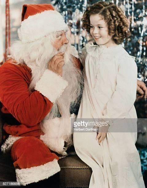 Shirley Temple and Santa Claus
