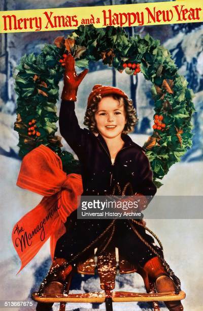 Shirley Temple Christmas poster from 1934 Shirley Temple was an American film and television actress singer dancer and public servant most famous as...