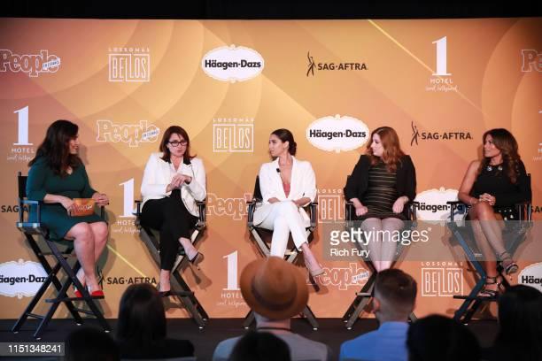 Shirley Velasquez Victoria Alonso Roselyn Sánchez Rachel Miller and Lisa Vidal speak during People En Español's Más Bellos panel at 1 Hotel West...