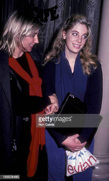 Shirley Watts and daughter Seraphina Watts sighted on October 26 1981 at Joanna's Restaurant in New York City