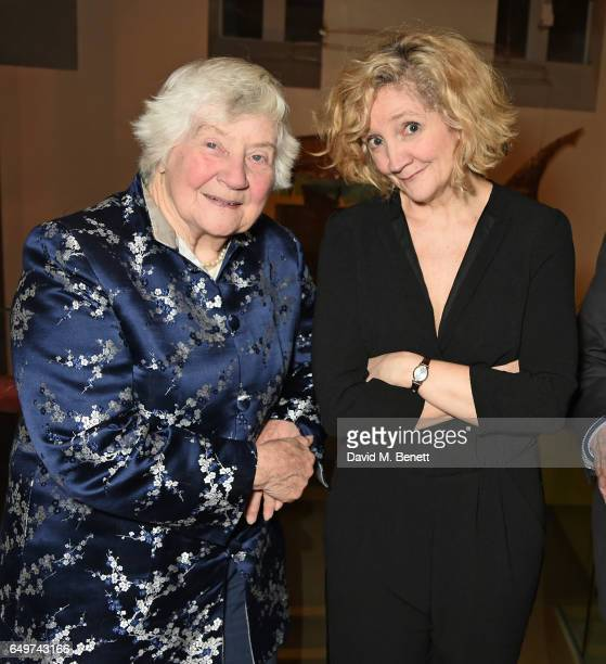 Shirley Williams and Debra Gillett attend the press night after party for The Donmar's production of Limehouse at The Hospital Club on March 8 2017...