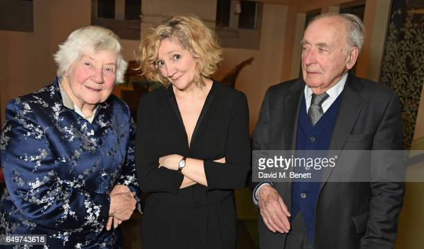 Shirley Williams Debra Gillett and Ben Hooberman attend the press night after party for The Donmar's production of Limehouse at The Hospital Club on...