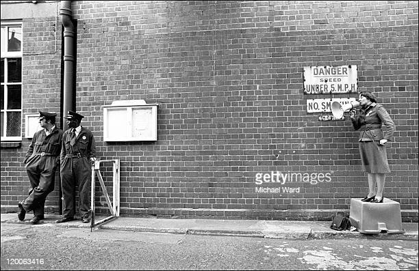 Shirley Williams makes a speech during the Stechford by-election, 1977.