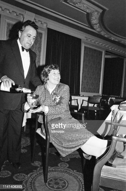 Shirley Williams of the Social Democratic Party celebrates her victory at the Crosby by-election with her supporters at the Blundellsands Hotel,...