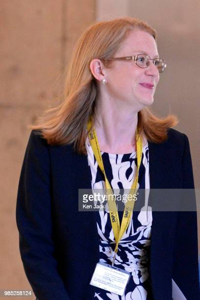 ShirleyAnne Somerville MSP on the way to the chamber of the Scottish Parliament after being appointed as Cabinet Secretary for Social Security and...