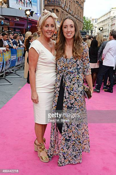 Shirlie Holliman and Harley Moon Kemp attend the UK Premiere of Walking On Sunshine at the Vue West End on June 11 2014 in London England