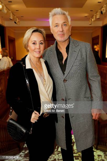 Shirlie Holliman and Martin Kemp celebrate The George Michael Collection at Christie's ahead of the artwork being auctioned on Thursday evening....