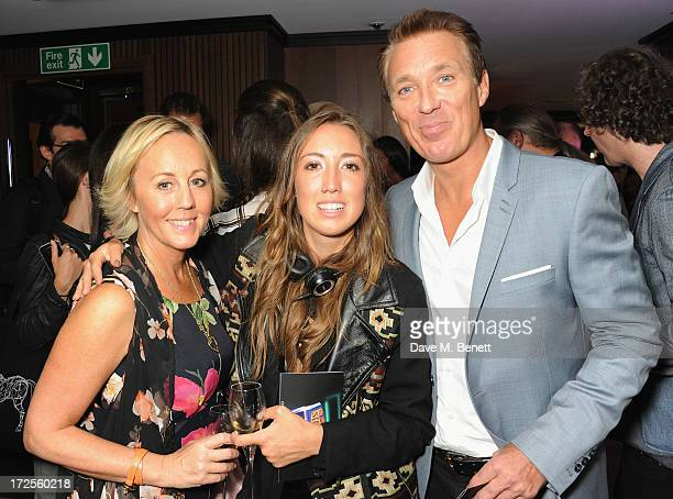 Shirley Holliman Harley Moon Kemp and Martin Kemp attend Christian Furr and Chris Bracey 'Staying Alive' Private View at 45 Park Lane on July 3 2013...