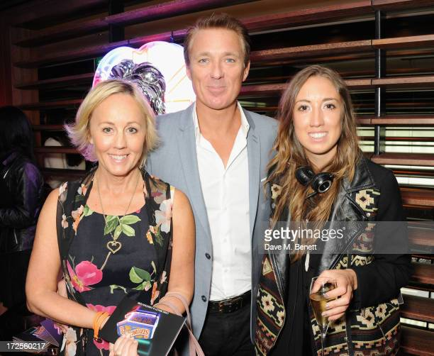 Shirley Holliman Martin Kemp and Harley Moon Kemp attend Christian Furr and Chris Bracey 'Staying Alive' Private View at 45 Park Lane on July 3 2013...